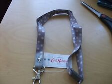 New with tags cath kidston button spot grey lanyard