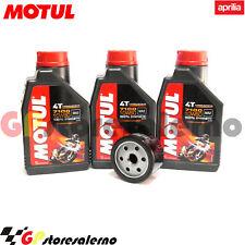 KIT TAGLIANDO OLIO + FILTRO MOTUL 7100 10W60 APRILIA 850 SRV ABS 2012