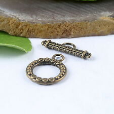 15sets bronze-tone toggle clasp findings h0784