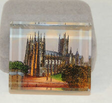 Glass Block Canterbury Cathedral PaperWeight (4409)
