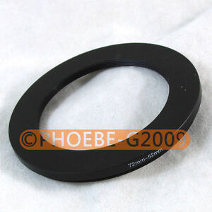 72mm-52mm 72-52 Step Down Filter Ring Stepping Adapter