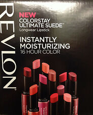 (1) REVLON COLORSTAY ULTIMATE SUEDE LIPSTICK, YOU CHOOSE YOUR COLOR