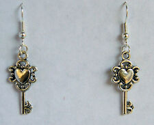 """""""The Key to My Heart"""" Earrings. Tibetan Silver NEW by Slave Violet Jewelry"""