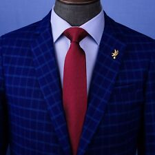 "Burgundy Solid Italian Designer Business Apparel 3"" Tie Professional Fashion"