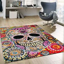 Webteppich mit Schädel Motiv Geheimnisvoll in Multicolor