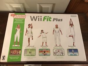 WII FIT PLUS Complete In Box Balance Board & Game Barely Used Nintendo Fitness