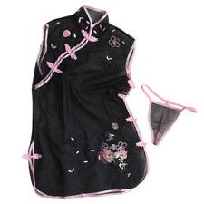 Nuevo Sexy Encaje Transparente Vestido de Cheongsam Camisón Lencería Diversión