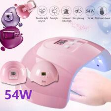Pro Nail Polish Dryer Lamp LED UV Gel Acrylic Curing Light Manicure Timer 54W US