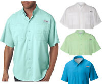 NEW COLUMBIA MEN PFG TAMIAMI II SHORT SLEEVE SHIRTS, XS-S-M-L-XL-XXL
