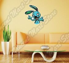Evil Blue Rabbit Creepy Bunny Devil Hell Wall Sticker Room Interior Decor 22X22""