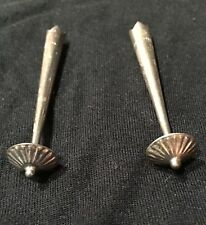 """NEW PAIR Sterling Silver Bolo Tips 2""""Long Style -3"""