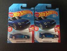 Hot Wheels 2018 Nissan GTR-R33 Blue Lot Of 2