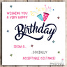 Isolation Birthday Card Mum Wife Sister Niece Daughter Friend Dad Lockdown Virus