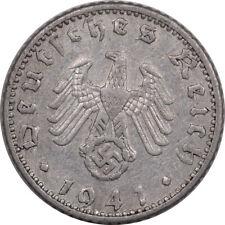 1941-A GERMANY THIRD REICH 50 REICHSPFENNIG - HIGH GRADE EXAMPLE!