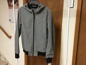 "Men's ""Dockers"" Smart 360 Tech Softshell Bomber Hooded Jackets, Size M Regular."
