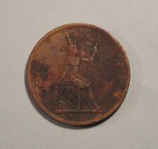 1895 2 Att Thailand Coin RS114 King Rama V Chulalongkorn Siam Thai 1 Siao