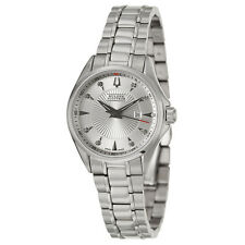 NEW BULOVA ACCUTRON  63P106 SWISS MADE LADIES DIAMOND STEEL WATCH  BRUSSELS