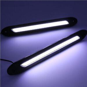 Car Daytime Running Lights COB LED Strip DRL Safe Driving Bulb Daylight Fog Lamp