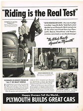 Vintage 1941 Magazine Ad Plymouth Beauty Smoothness & Responsiveness = Buyer