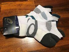 Socks Mens Asics Intensity Single Tab 3 Pair  - shoe size 9.5 - 11 Running