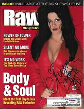 Chyna Signed WWE WWF March 2000 RAW Magazine PSA/DNA COA DX Diva Photo Autograph