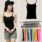 Womens Girls Casual Vest Tank Tops Spaghetti Strap Sleeveless Shirts Tee Blouse