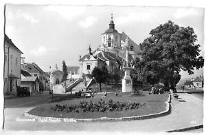 AK, Eisenstadt Burgenland, Straßenpartie mit Haydn-Kirche, um 1963