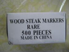 Wood steak markers Rare 1000 pcs