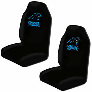 Carolina Panthers Car Seat Covers High Back Licensed Pair Universal SUV