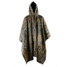 Men Camouflage Waterproof Jacket Camping Poncho Raincoat Hooded Cover Hiking