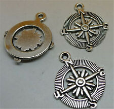 P1013 8pc Tibetan Silver compass Charm Beads Pendant accessories wholesale