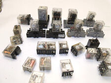 LOT OF RELAYS, OMRON, POTTER & BRUMFIELD, ALLEN BRADLEY, AMF LY2, LY3, MY4, ECT.