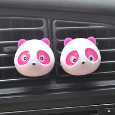 1 Pair Pink Cute Panda Car Perfume Air Freshener Auto Decoration Accessories