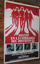 Used Cartel de Cine  ASALTO EN LA COMISARIA DEL DISTRITO 13  Movie Film Poster