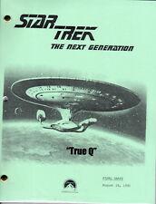 Star Trek Script - TNG - True Q