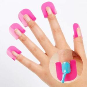 26pcs Finger Case Stencil Tool Shield Nail Art cover Nail Polish Mold Protector