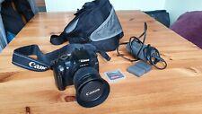 Canon EOS350D FOTOCAMERA DSLR CON-F 18-55 EF mm Canon Lenti, Case & Caricabatteria-Nero