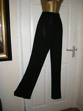 12 BLACK WIDE LEG TROUSER PETER MARTIN SMART QUALITY 30 LEG NEW