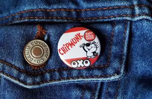 Chipmunk OXO crisps badge - Small Button Badge - 25mm diam