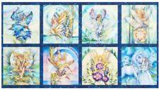 FAIRIES RIDING ON MORNING WINGS QUILT PANEL * NEW  * FREE POST *  BEAUTIFUL *