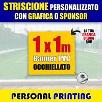 STRISCIONE PUBBLICITARIO PERSONALIZZATO 1x1 m striscioni BANNER PVC economico