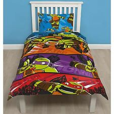 TEENAGE MUTANT NINJA TURTLES BROS SINGLE DUVET COVER SET CHILDRENS BEDDING NEW