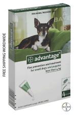 Pack 4 Advantage 40 Small Dog and puppies < 9 lb under 4kg under 9lb - ADVANTAGE