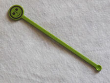 Vintage Bar Drinks Swizzle Stick Green Smile Smiley Face