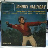 EP Johnny Hallyday - D'où viens tu Johnny - Pour moi la vie...Imprimeur F Richir