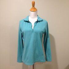 Woman's GAP Bright Baby Blue Fleece Long Sleeve Sweater Small