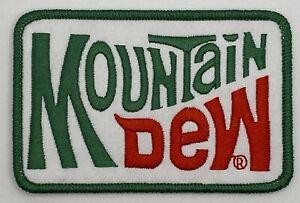 Mountain Dew Patch Retro Vintage Style Sew Iron On Cap Hat Jacket Soda Pop Coke
