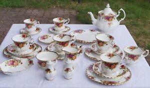 Royal Albert Old Country Roses Rest Kaffeeservice Teekanne