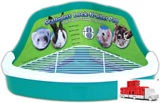 Small Pet Litter Box Corner Lock Critter Rabbit Ferret Wire Pan Bolter Supplies