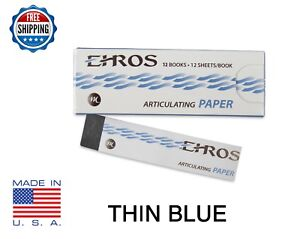 """DENTAL ARTICULATING PAPER THIN (0.003"""") BLUE  144 Sheets  MADE IN USA"""